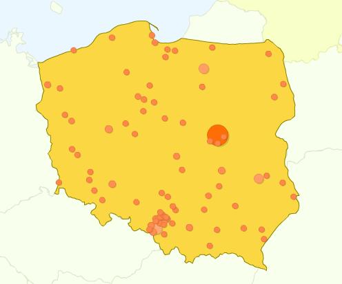 Mapa odwiedzin